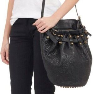 Alexander Wang Diego Studded Leather Bucket Bag
